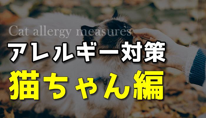 猫アレルギー対策-猫ちゃん編