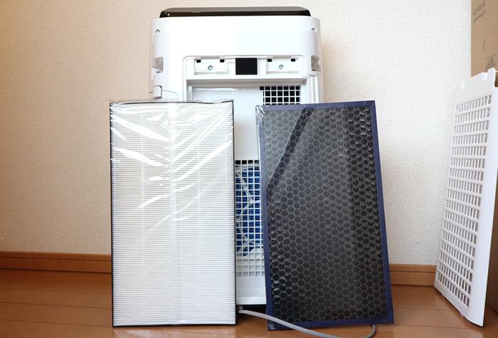 シャープの空気清浄機のフィルター